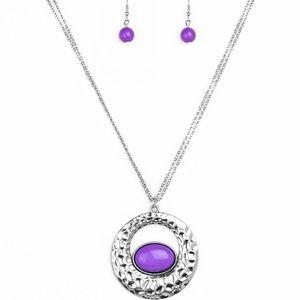 Purple Eye Necklace Set